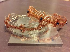 Wire Weave Bracelets#WW2 ON LEFT SOLD