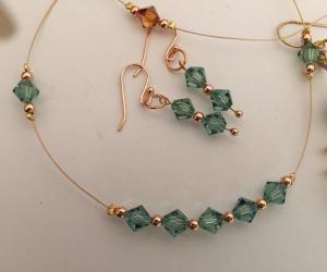 Swarovski Crystals floating necklace