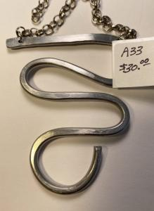 Hand Formed Aluminum Long Life Swirl A33, $30.00