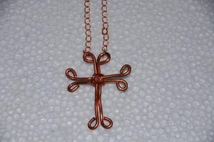 Copper Cross & Chain