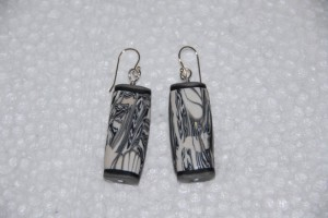 Polymer clay Earring #307