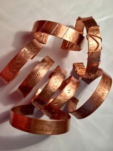 Copper Bracelets cuffs