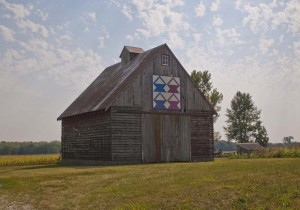 Weathered Red Quilt Barn