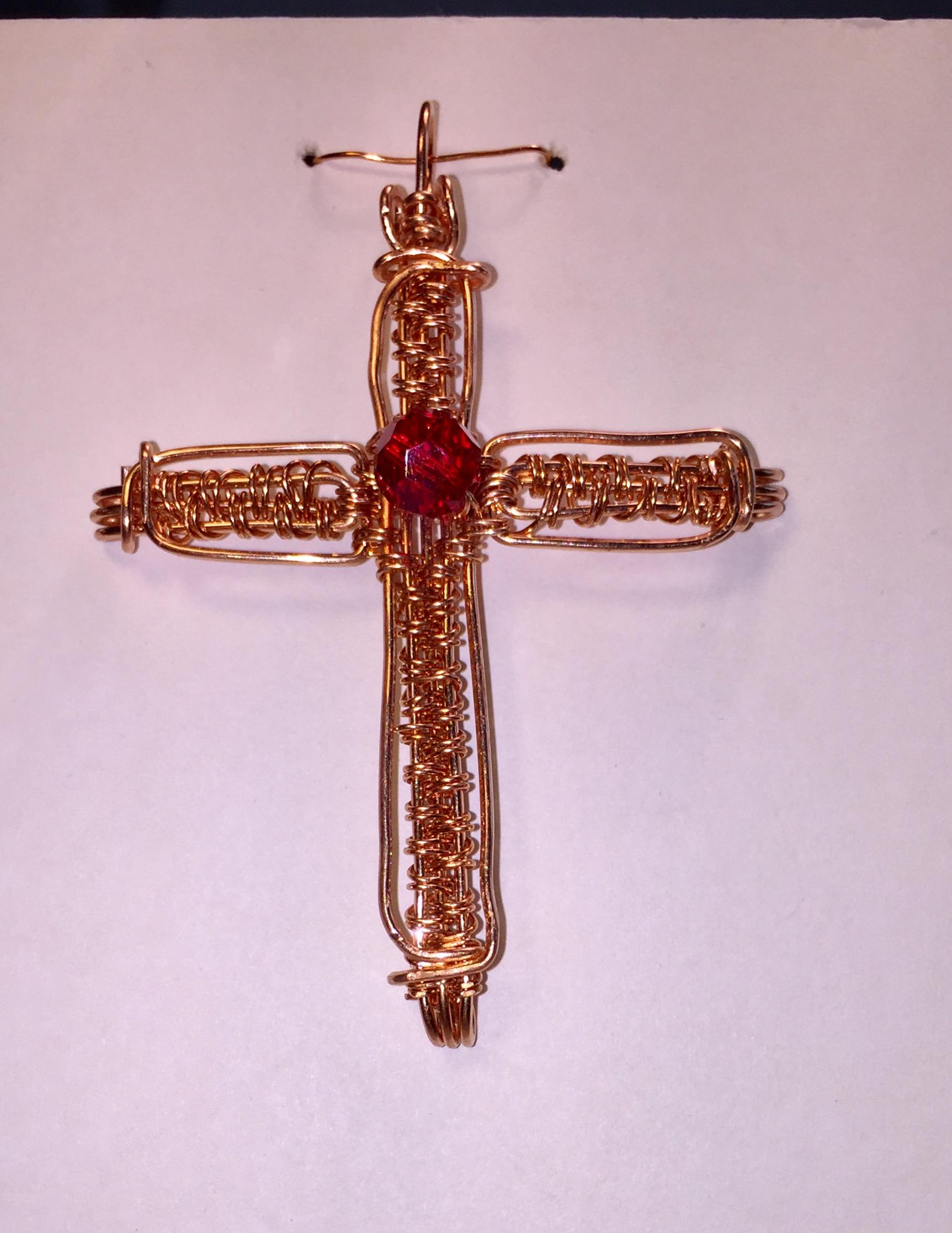 Wire Weave Cross