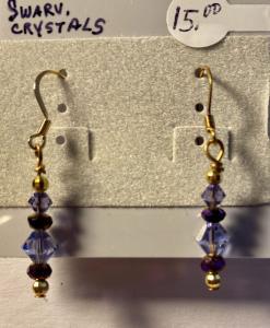 Swarovski purple crystals E301, $15.00