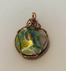 Abalone Shell Coin T64 $35.00
