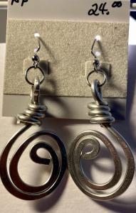 Hand Formed Aluminum Swirls A114, $24.00