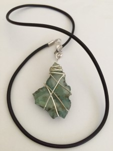 Wrapped Fluorite- green