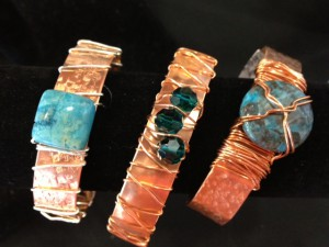 Wrapped Copper Bracelets