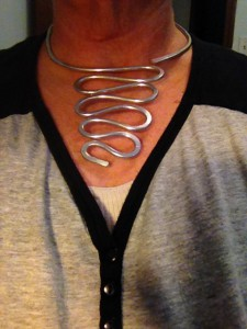 Free Formed Wire Necklace $45.00