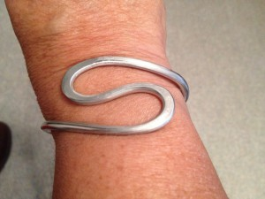 Free Formed Wire bracelet - Swirl - Prices vary from $20 - $40)