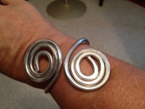 Free Formed Wire bracelets - Double rounds - Prices vary from $20- $40)