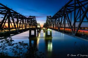 Natches Bridge on Mississippi River.
